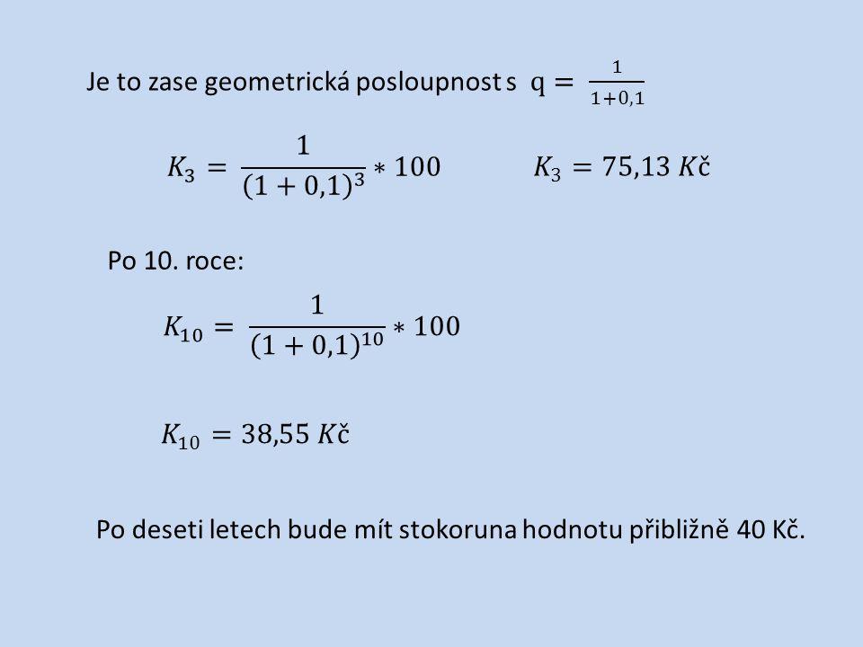 Na stránkách českého statistického úřadu najděte vývoj inflace od roku 1990 do roku 2010 a spočítejte v procentech, jak se změnila hodnota peněz.