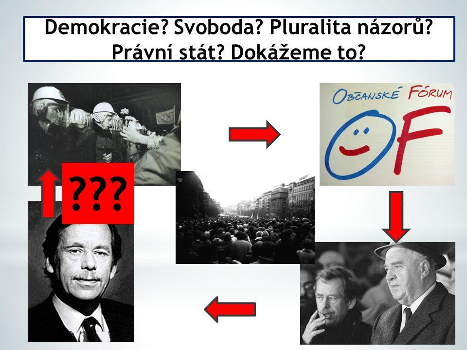 Demokracie? Svoboda? Pluralita názorů? Právní stát? Dokážeme to? ???