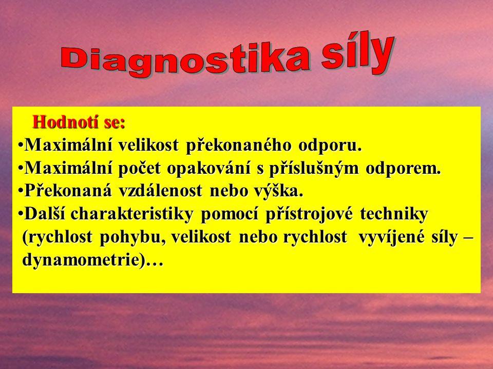"""Laboratorní testyLaboratorní testy – hlavně biomechanická měření dynamometrický profil - dynamometrie, výsledkem může být """"dynamometrický profil"""" (hod"""