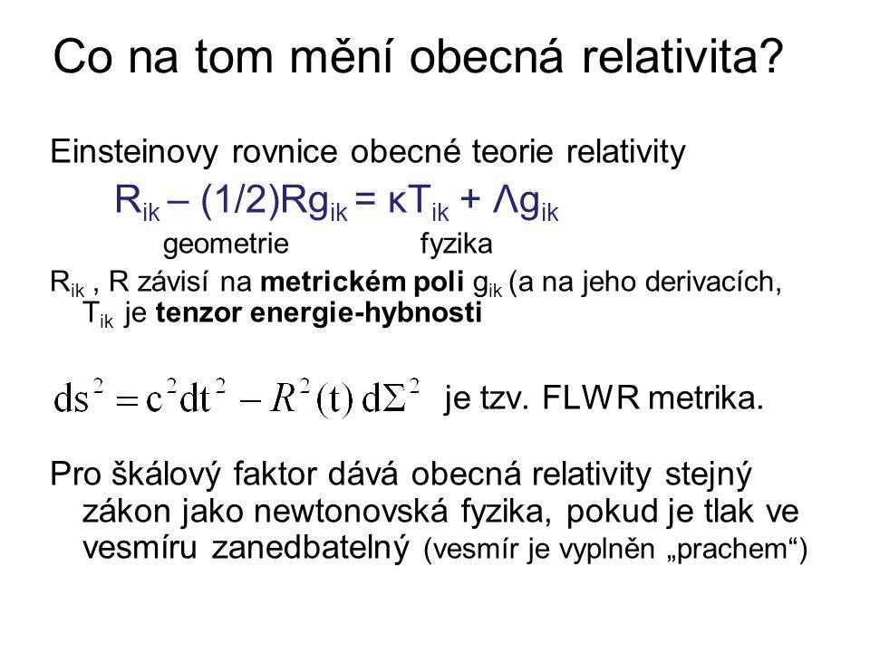 Co na tom mění obecná relativita.