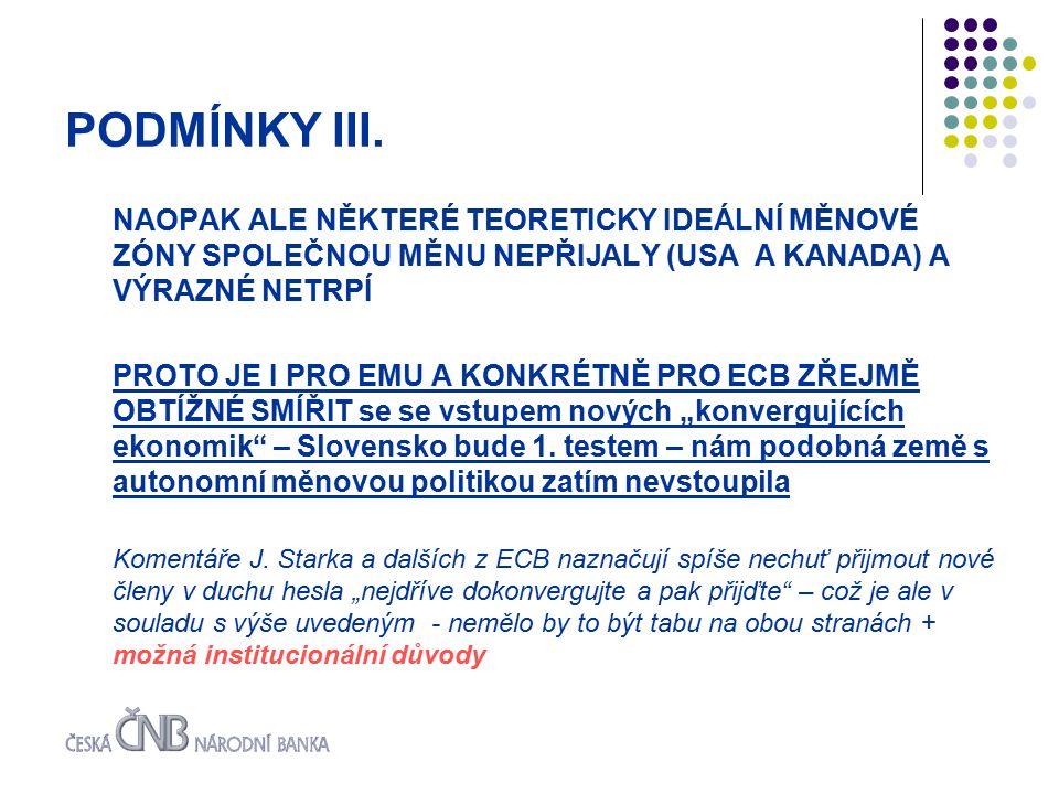 PODMÍNKY III.