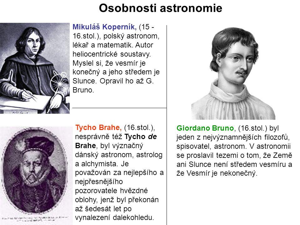 Mikuláš Koperník, (15 - 16.stol.), polský astronom, lékař a matematik.