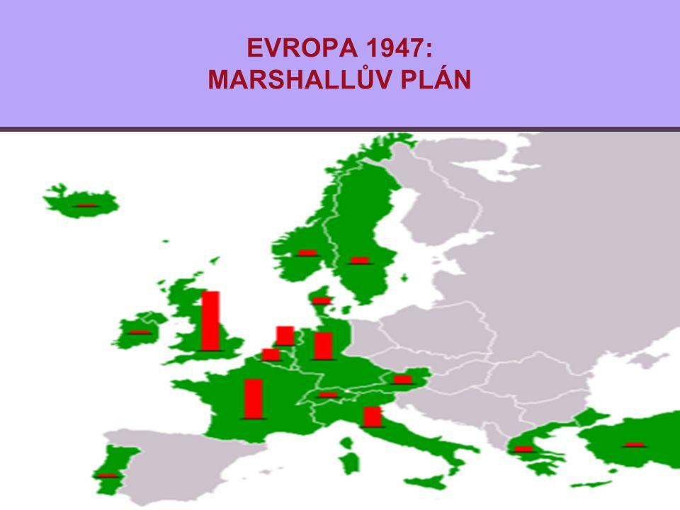 EVROPA 1947: MARSHALLŮV PLÁN