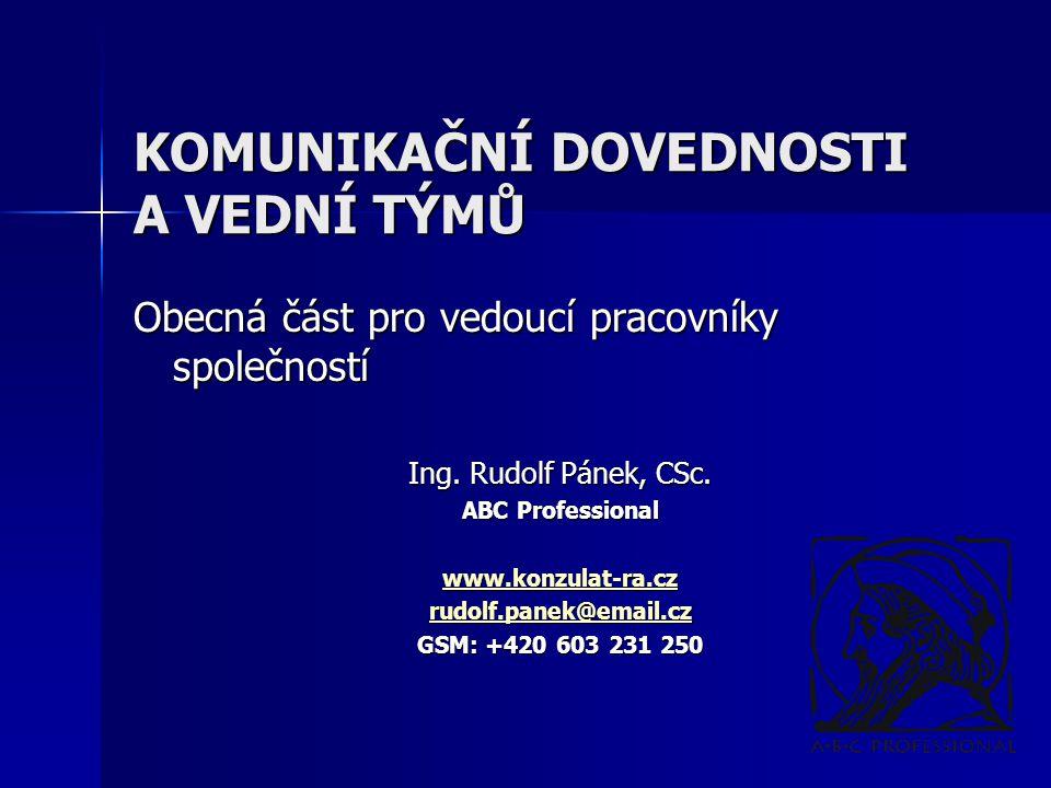 Ing.Rudolf Pánek, CSc.