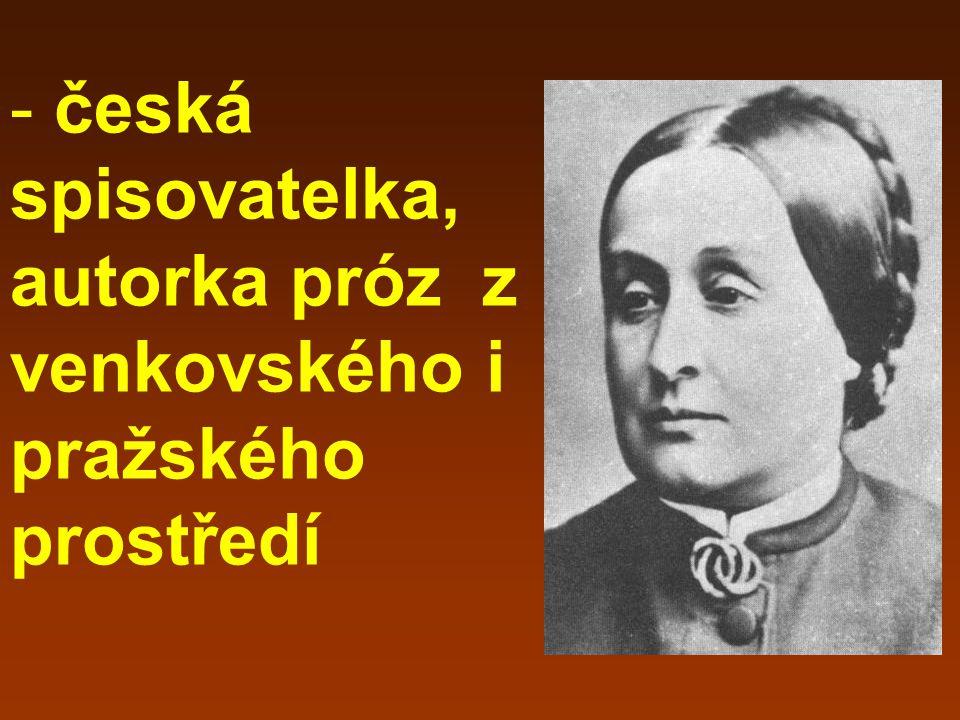 - narodila se 24. 2. 1830 v pražské obchodnické rodině - rodné jméno Johanna Rottová