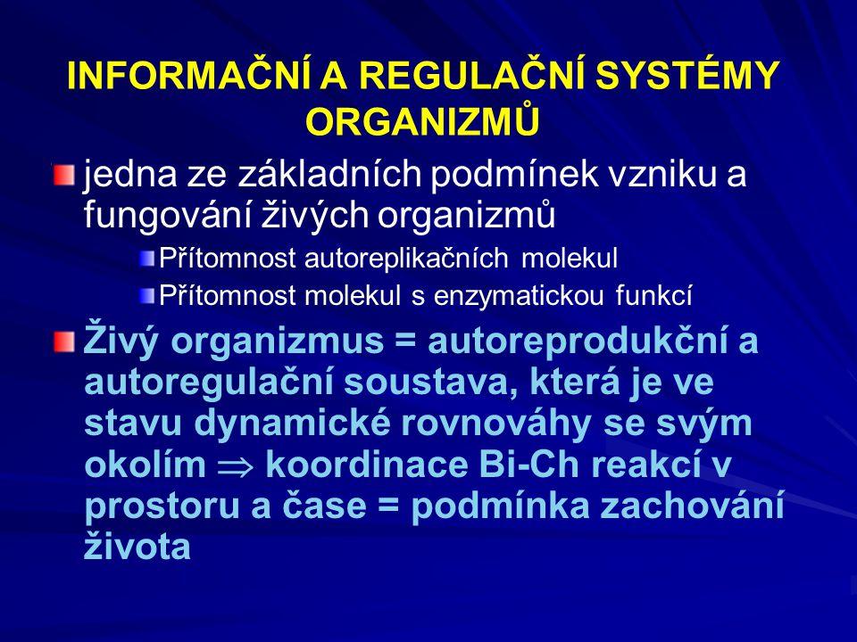 METABOLISMUS - představuje organizovaný soubor chemických reakcí a s nimi spojených energetických přeměn, které probíhají v živých systémech 1) katabolické procesy = děje = děje rozkladné = disimilační- produkují energii 2) anabolické procesy = děje = děje biosyntetické = asimilační –, energie se spotřebovává -jednoduché látky, které jsou stavebním materiálem při biosyntézách se označují jako prekurzory - amfibolické dráhy, které plní obě základní funkce metabolismu (TCA) - anaplerotické reakce – slouží k doplňování vyčerpaných meziproduktů metabolických drah