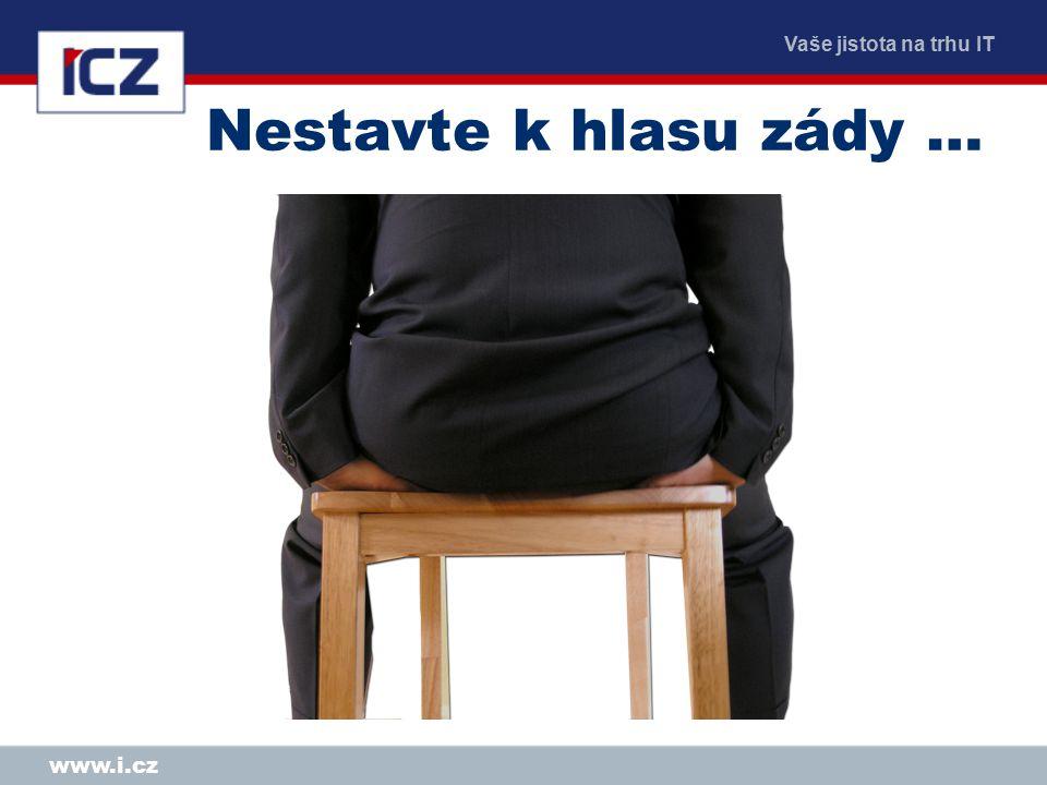 Vaše jistota na trhu IT www.i.cz Nestavte k hlasu zády …