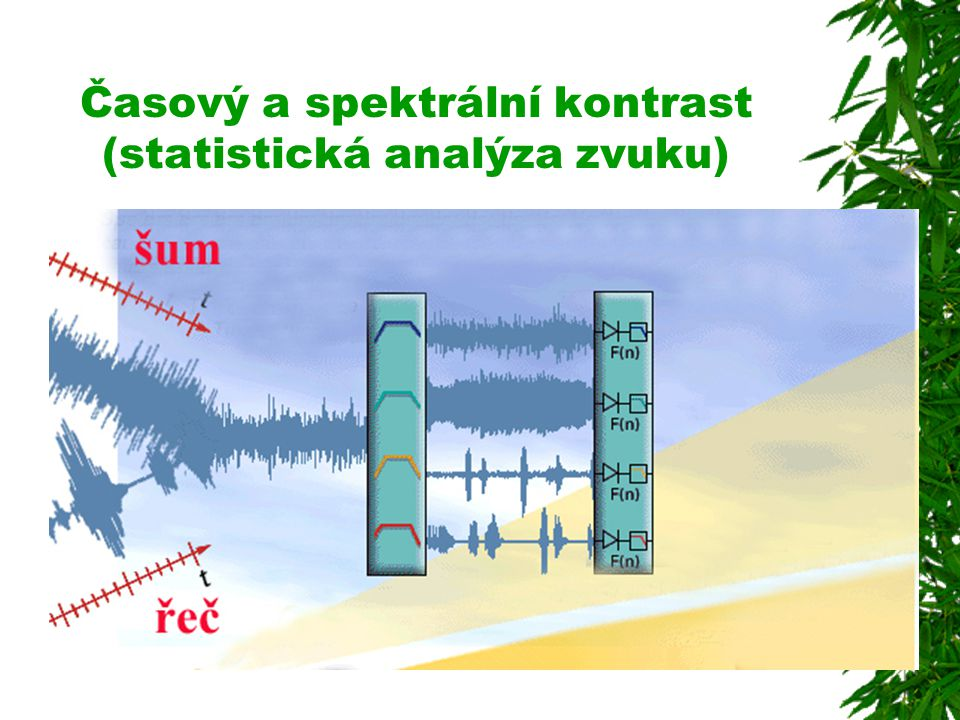 Časový a spektrální kontrast (statistická analýza zvuku)