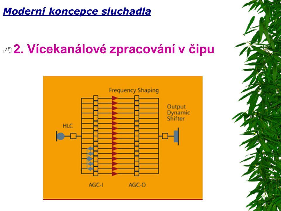  2. Vícekanálové zpracování v čipu Moderní koncepce sluchadla