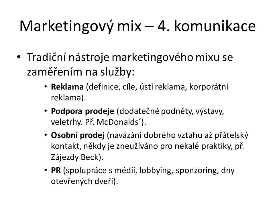 Marketingový mix – 4.