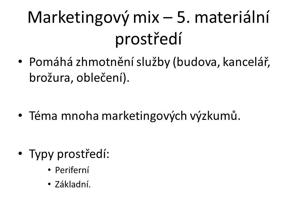Marketingový mix – 5.