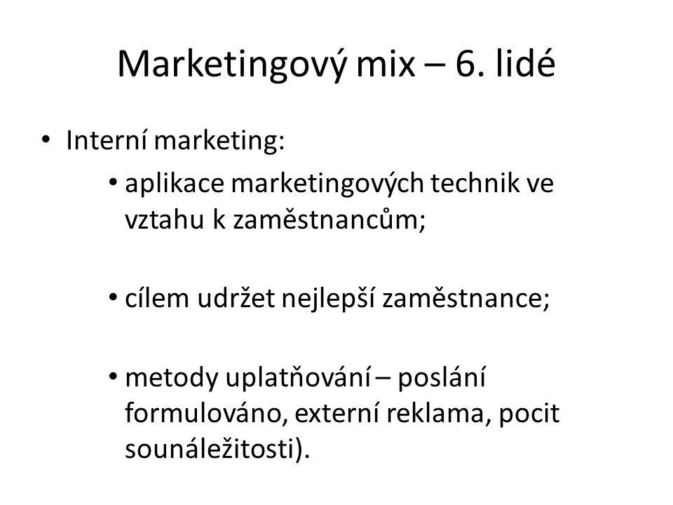 Marketingový mix – 6.