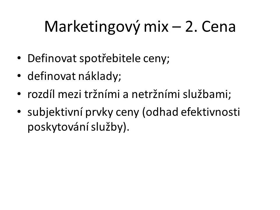 Marketingový mix – 2.