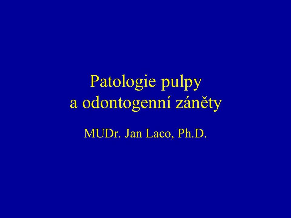 Patologie pulpy a odontogenní záněty MUDr. Jan Laco, Ph.D.