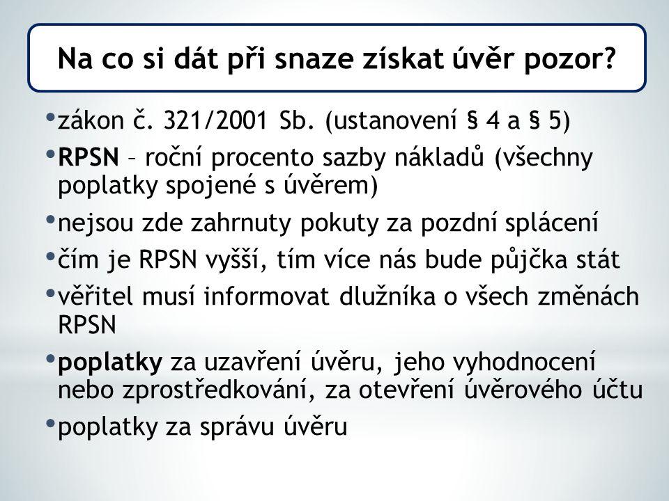 zákon č. 321/2001 Sb.