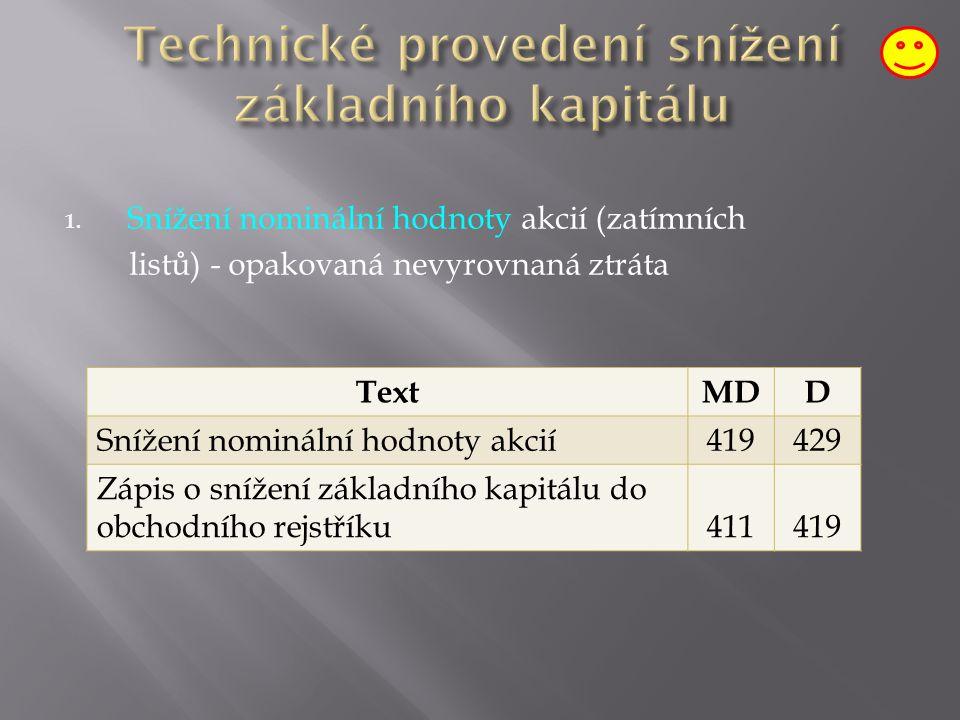 Doba držení vlastních akcií je limitována Obchodním zákoníkem na mailto:http://business.center.cz/business/pravo/ zakon Vzetí akcií z oběhu 2.