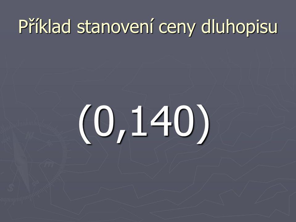 Příklad stanovení ceny dluhopisu (0,140)