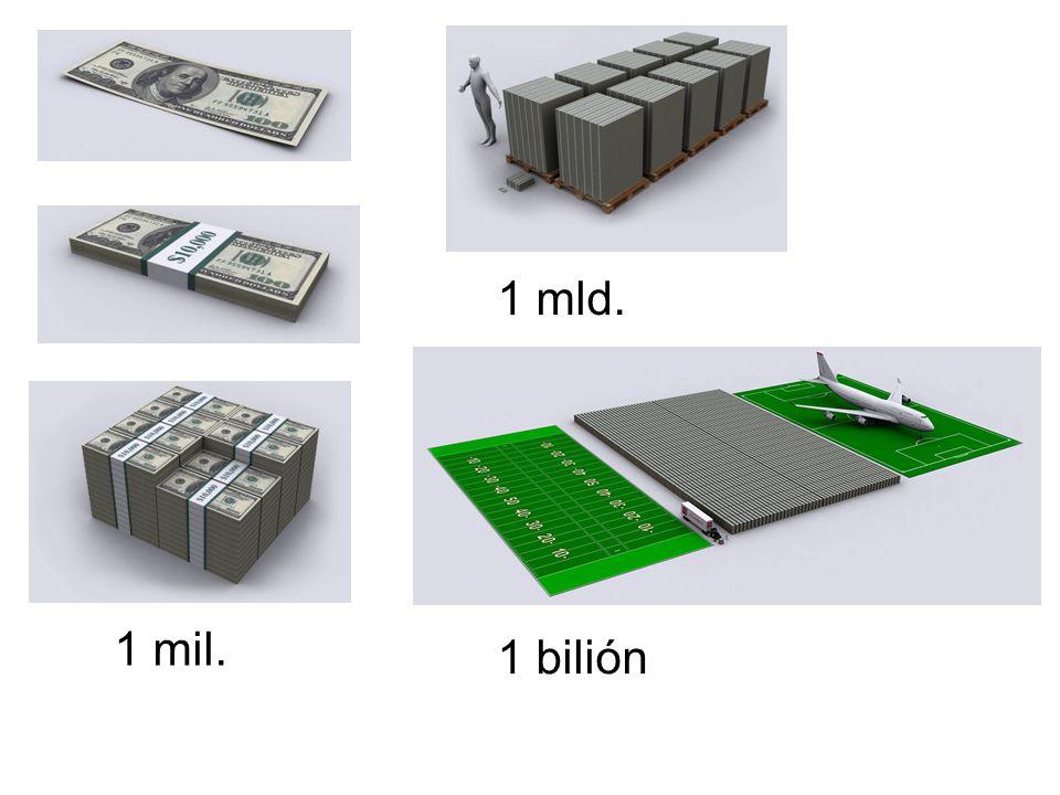1 mil. 1 mld. 1 bilión