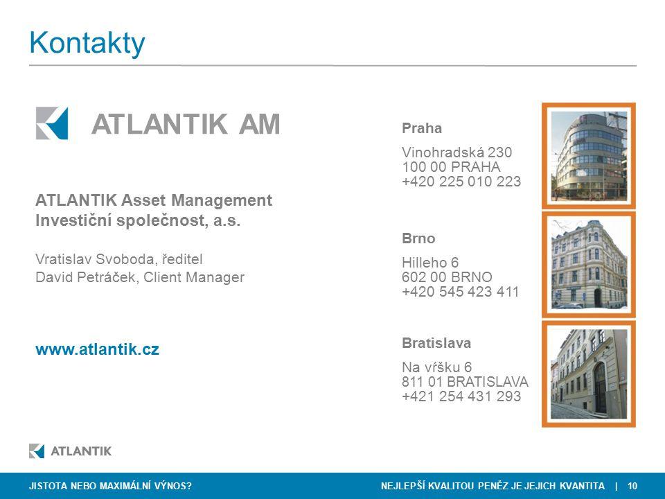 NEJLEPŠÍ KVALITOU PENĚZ JE JEJICH KVANTITA   10 Praha Vinohradská 230 100 00 PRAHA +420 225 010 223 ATLANTIK Asset Management Investiční společnost, a