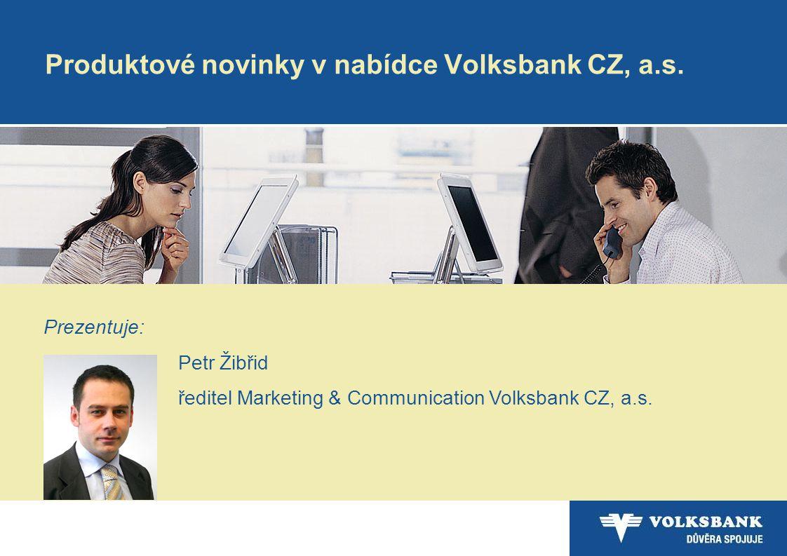 Produktové novinky v nabídce Volksbank CZ, a.s.