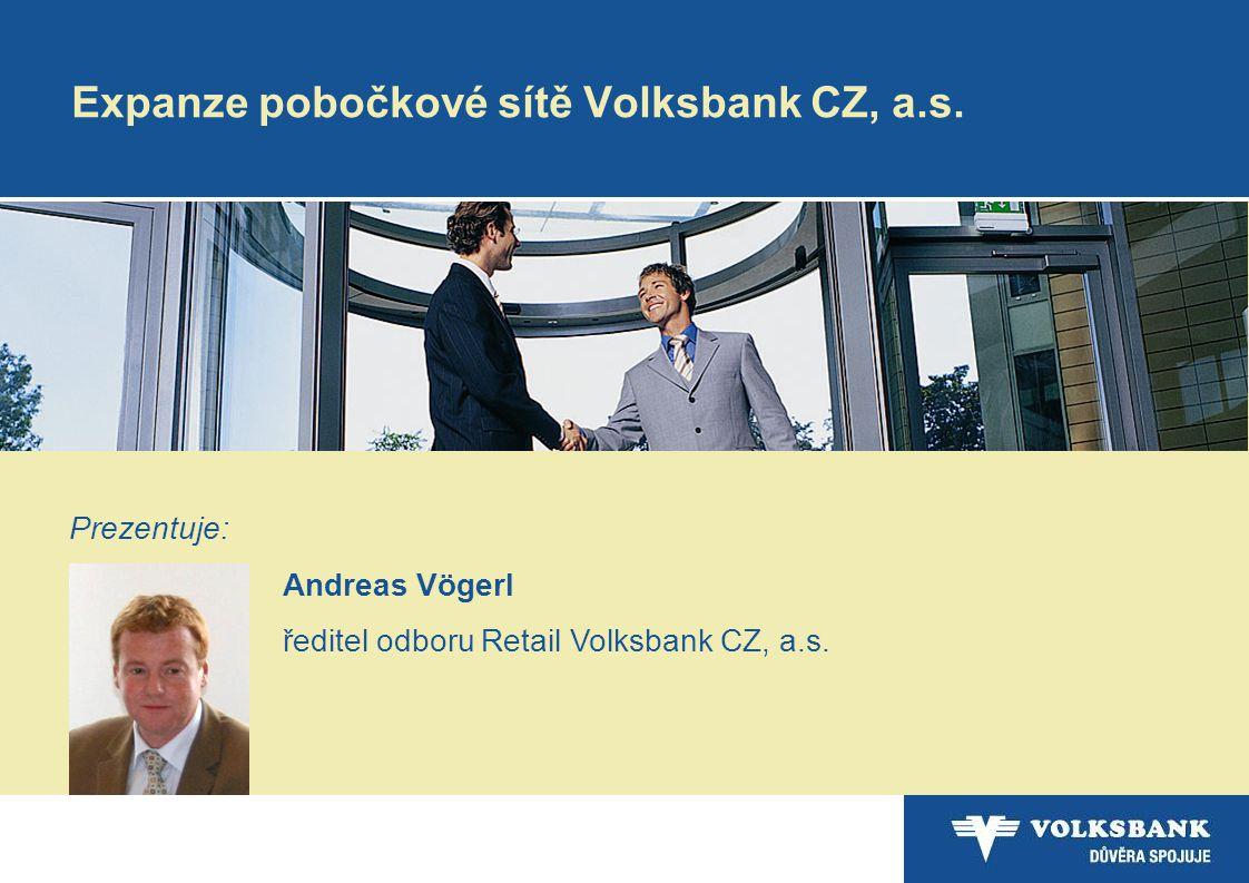 Expanze pobočkové sítě Volksbank CZ, a.s.