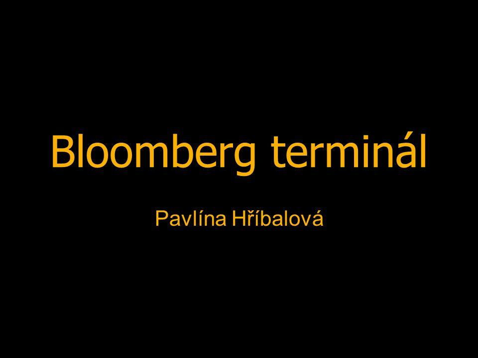21.4. 20083MA381 2 Obsah € Co je to € Funkce € Práce s Bloombergem € Zdroje