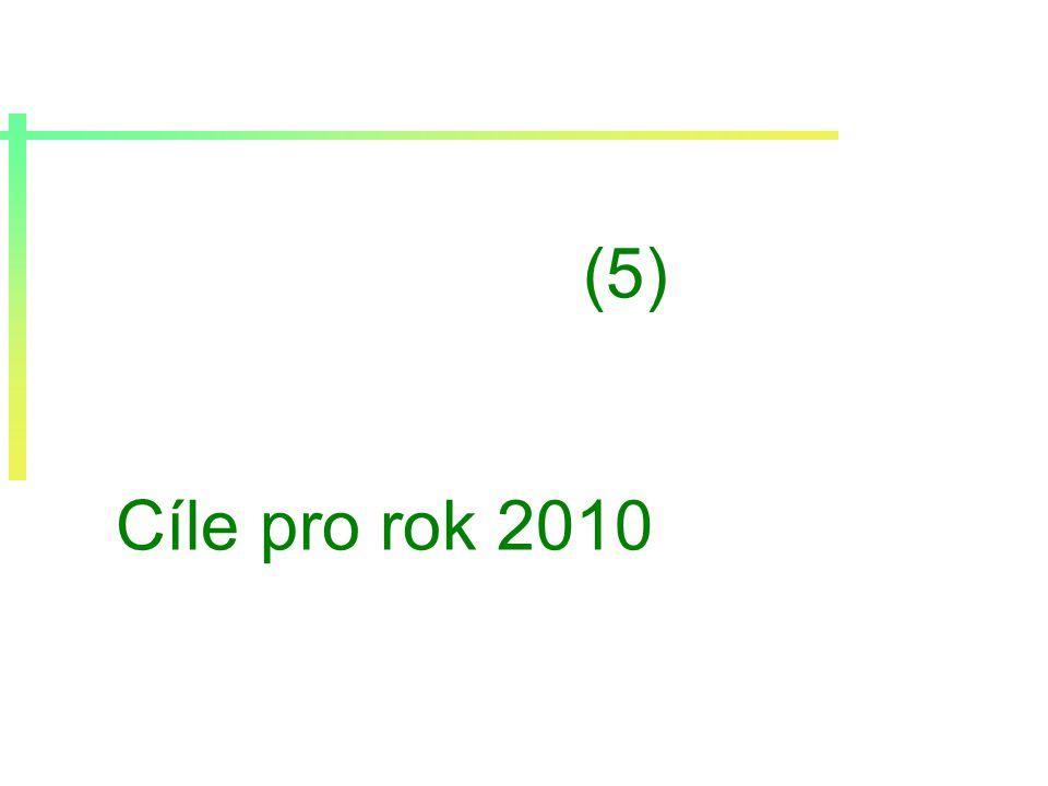 (5) Cíle pro rok 2010