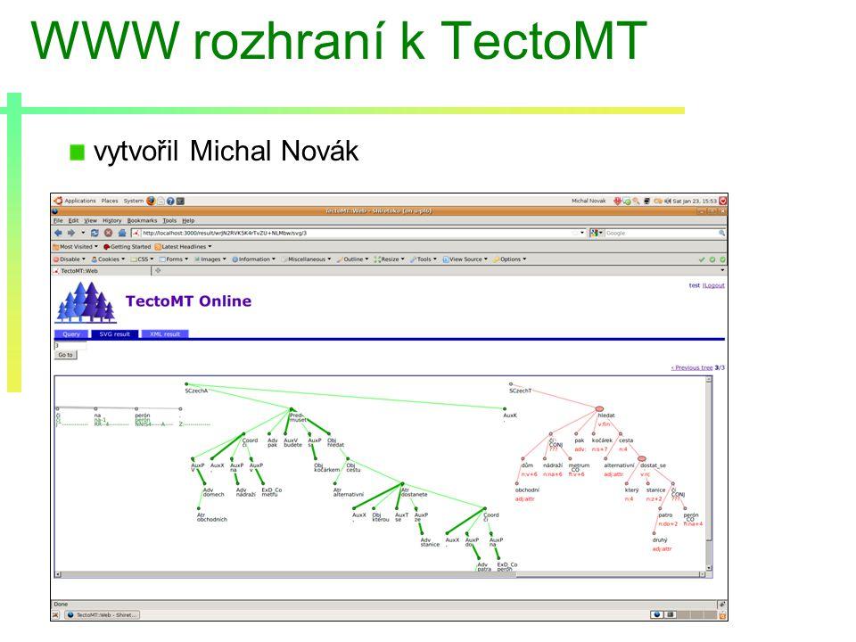 WWW rozhraní k TectoMT vytvořil Michal Novák