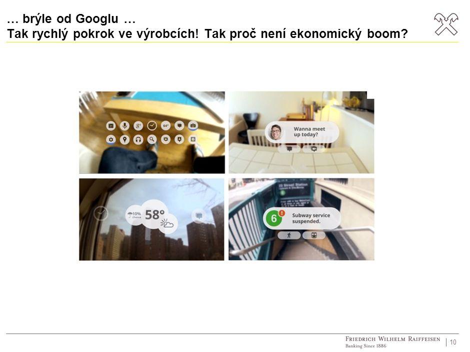 … brýle od Googlu … Tak rychlý pokrok ve výrobcích! Tak proč není ekonomický boom? 10