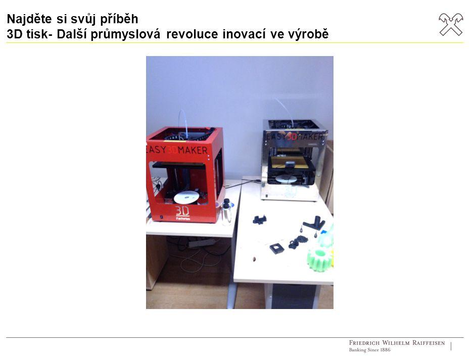 Najděte si svůj příběh 3D tisk- Další průmyslová revoluce inovací ve výrobě