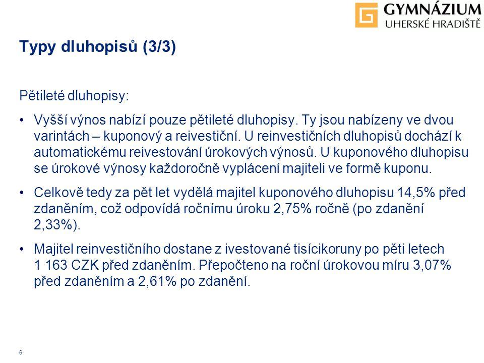 7 Zdroje informací: Ostatní zdroje: 1.http://www.mfcr.cz/http://www.mfcr.cz/ 2.http://www.penize.cz/dluhopisyhttp://www.penize.cz/dluhopisy 3.http://finance.idnes.cz/sporici-statni-dluhopisy-0yv-/http://finance.idnes.cz/sporici-statni-dluhopisy-0yv-/