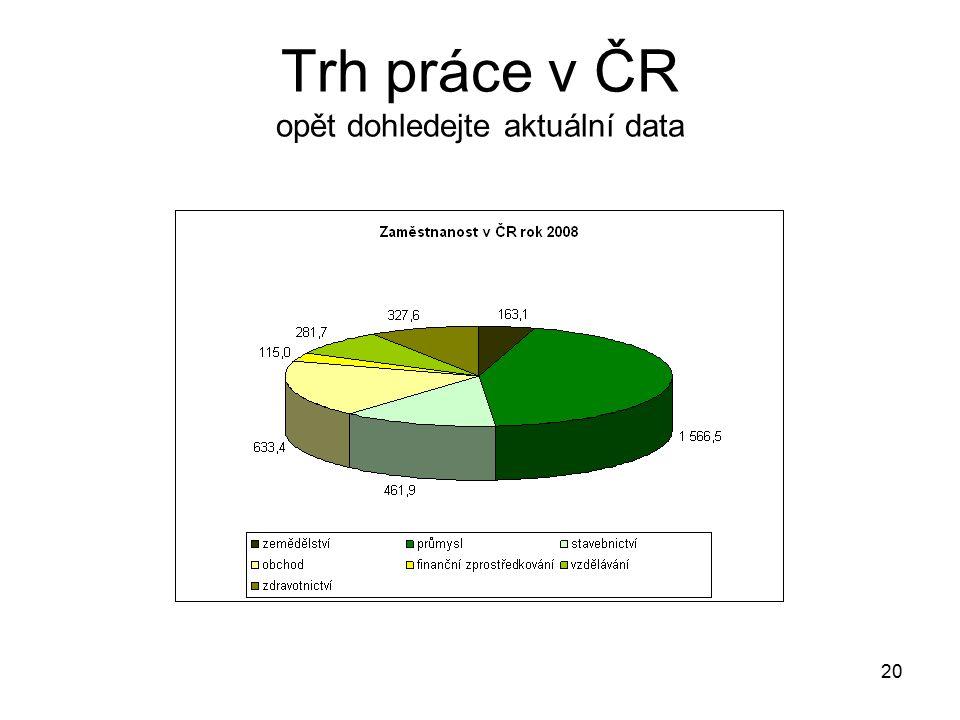 20 Trh práce v ČR opět dohledejte aktuální data