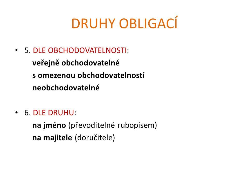 DRUHY OBLIGACÍ 5.