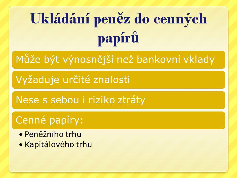 Zdroje http://trhy.mesec.cz/ http://www.nuov.cz/financni-gramotnost- obsah-a-priklady-z-praxe-skol http://www.nuov.cz/financni-gramotnost- obsah-a-priklady-z-praxe-skol http://trhy.mesec.cz/clanky/ruzne-formy- investic-a-jejich-nevyhody/ http://trhy.mesec.cz/clanky/ruzne-formy- investic-a-jejich-nevyhody/ Obrázky: http://www.dreamstime.com/ http://cs.wikipedia.org/wiki – zdroj, autor uveden u příslušného obrázku