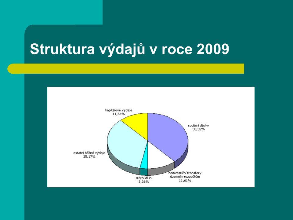 Struktura výdajů v roce 2009