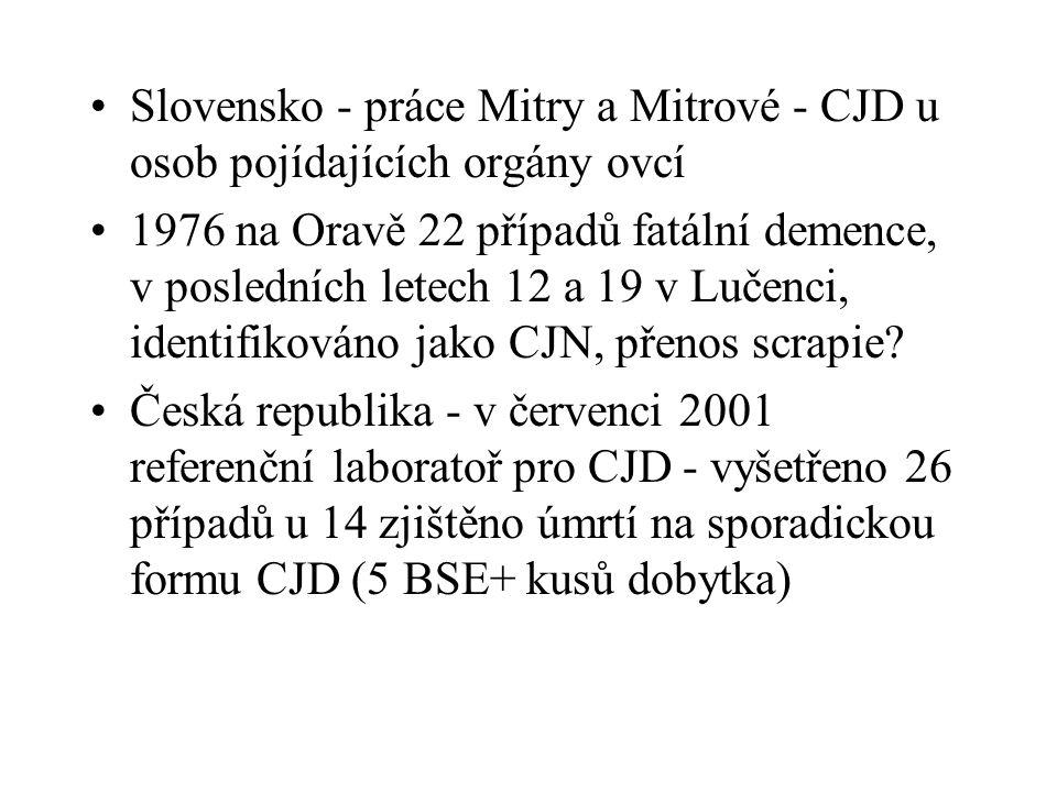 Gerstmann, Straussler-Scheinkerova nemoc u lidí s vrozenými predispozicemi - podobná roztroušené mozkomíšní skleróze