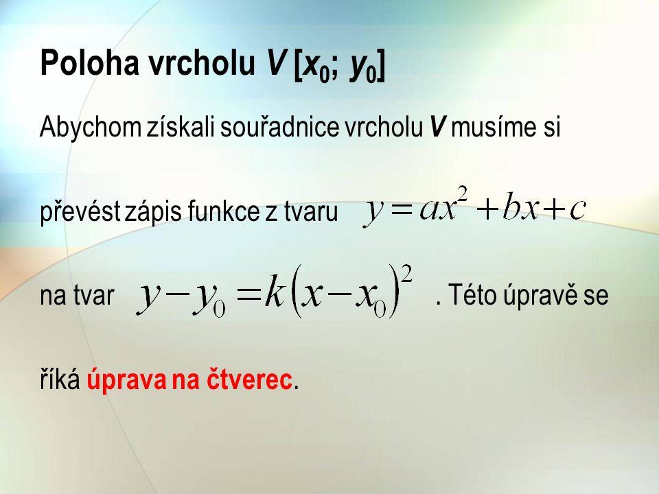 Sestrojíme graf funkce a to z grafu pomocí posunutí: o jednotek ve směru osy x, o jednotek ve směru osy y.