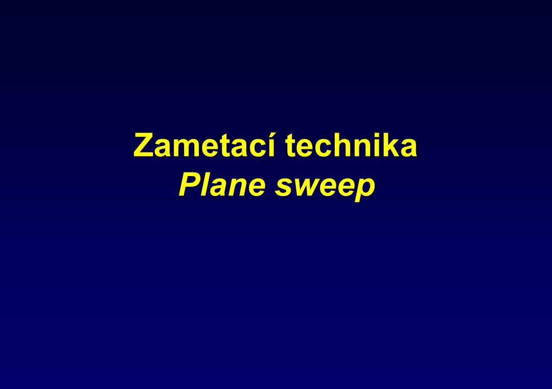 Zametací technika Plane sweep