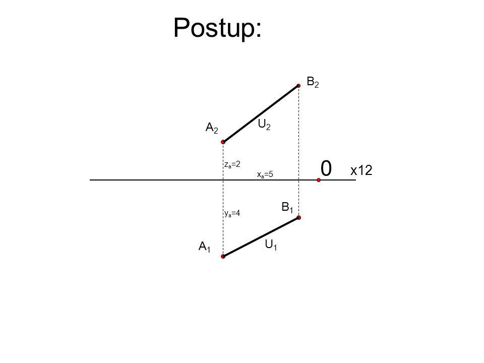 Postup: 0 x12 A1A1 A2A2 x a =5 y a =4 z a =2 B1B1 B2B2 U1U1 U2U2