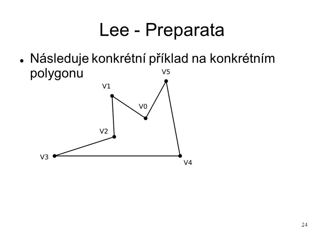 24 Lee - Preparata Následuje konkrétní příklad na konkrétním polygonu