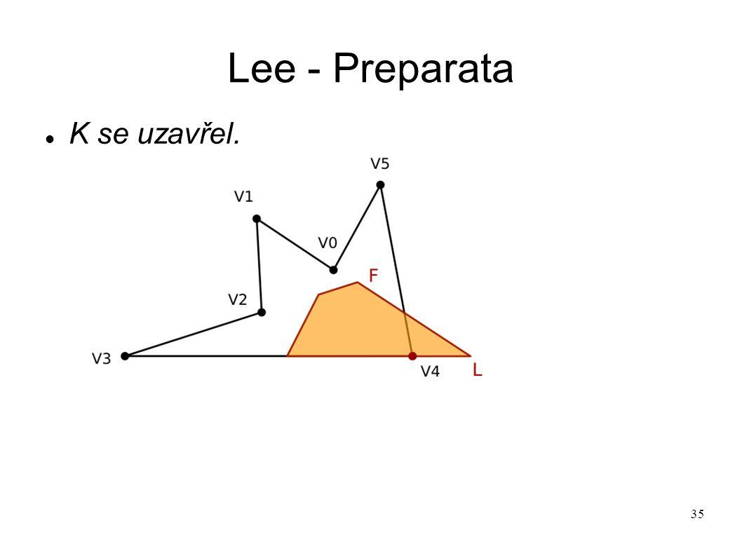 35 Lee - Preparata K se uzavřel.