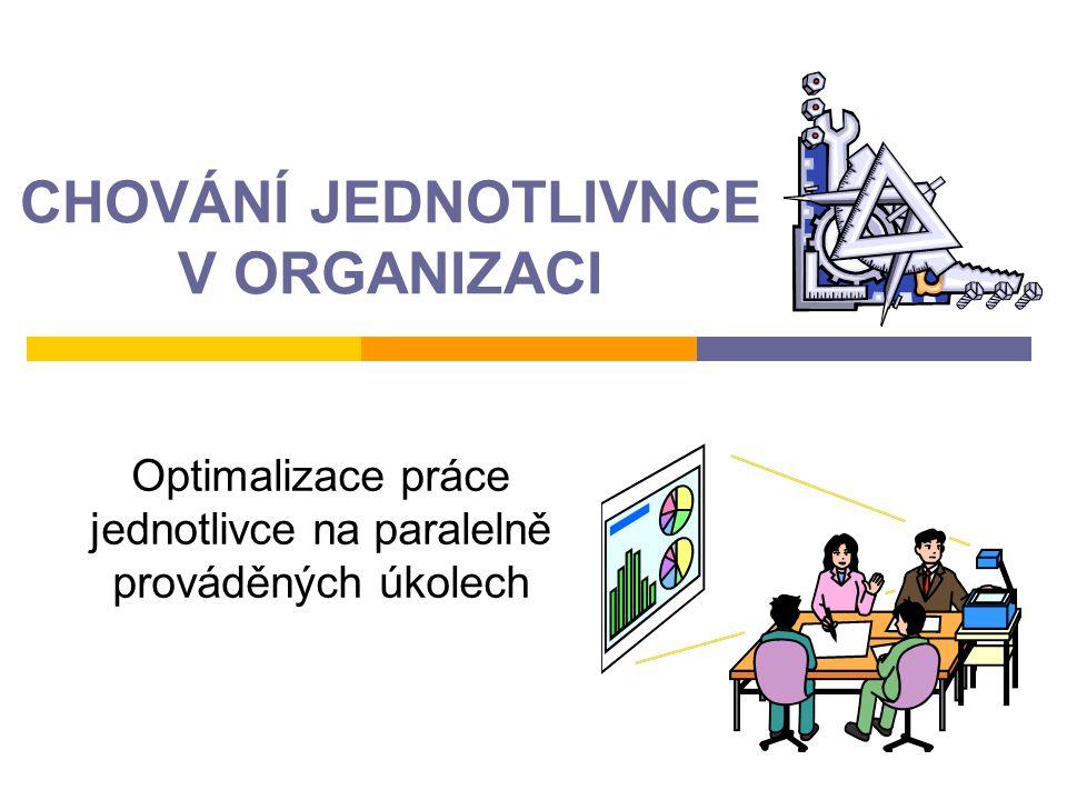 CHOVÁNÍ JEDNOTLIVNCE V ORGANIZACI Optimalizace práce jednotlivce na paralelně prováděných úkolech