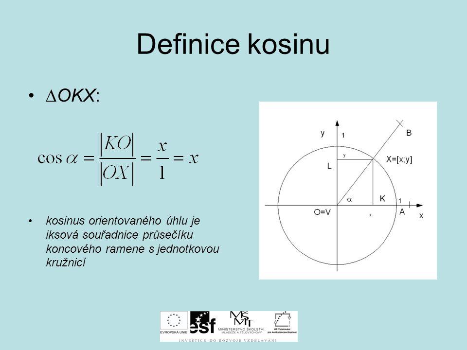 Vlastnosti funkce sinus a kosuinus Hodnoty g.f sinus a kosinus pro mezní úhly  0° 0         sin  0100 cos  1001