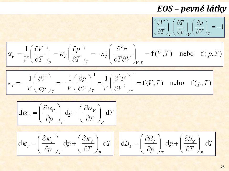 25 EOS – pevné látky