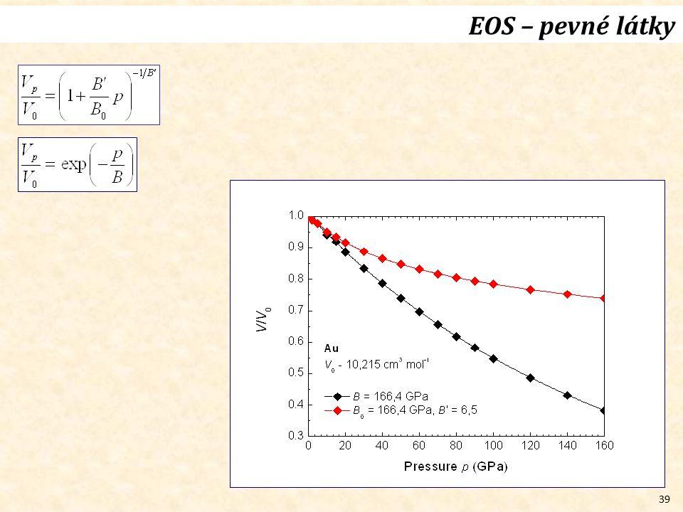 39 EOS – pevné látky