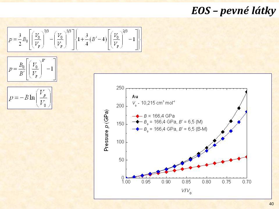 40 EOS – pevné látky
