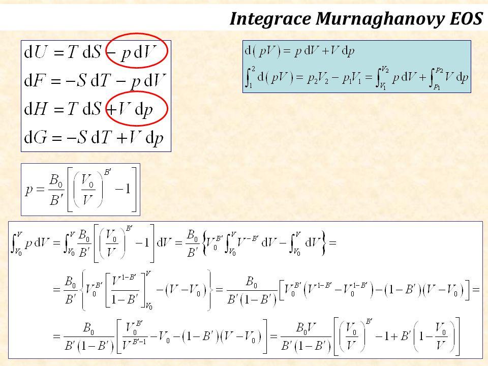 Integrace Murnaghanovy EOS