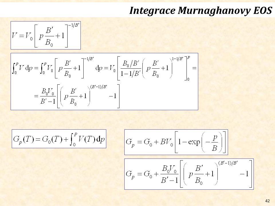 42 Integrace Murnaghanovy EOS