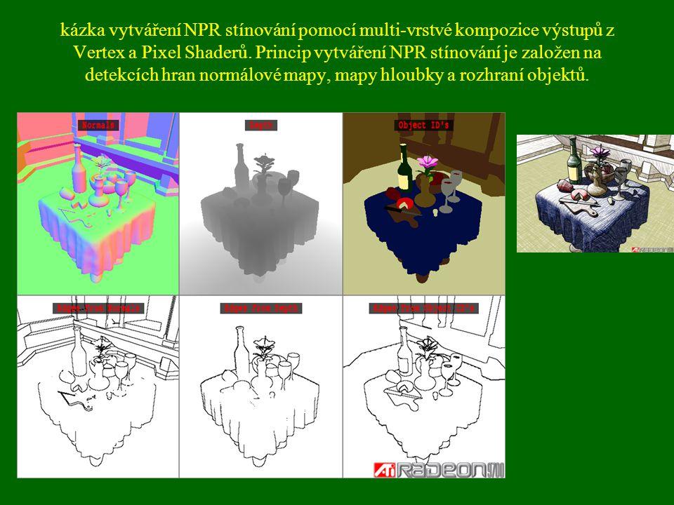 kázka vytváření NPR stínování pomocí multi-vrstvé kompozice výstupů z Vertex a Pixel Shaderů.