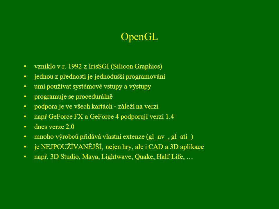 OpenGL vzniklo v r.